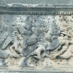 France, Orange, roman triumph arc, relief with battle scene